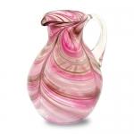 Кувшин стеклянный розовый
